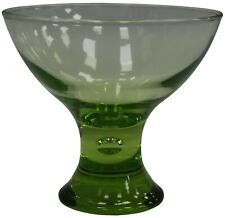 Set of 6 Large Glass Ice Cream Bowls Sundae Dishes Green Glass