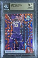 2019-20 Panini Mosaic Blue Reactive Prizm LeBron James BGS 9.5 GEM MINT