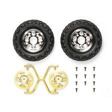 Tamiya 54484 RC Rock Block Tires - w/2-Piece Mesh Wheels (CC01)