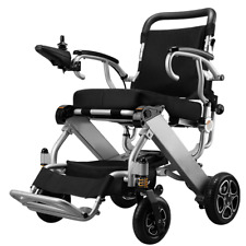 Foldable Power Wheelchair For Disabled Use Lightweight Folding Electric Cruiser