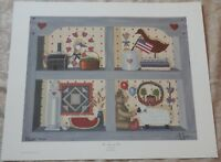 1987 Vintage  PAT PEARSON The Memory Box Folkart Print Signed & Numbered New