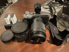 New listing Canon Eos M6 Mark Ii + Ef-M 15-45mm f/3.5-6.3 Is Stm + Ef 18-150mm + Evf -Sliver