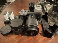 Canon EOS M6 Mark II + EF-M 15-45mm f/3.5-6.3 IS STM + EF 18-150mm + EVF -Sliver