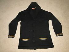 Vintage 1930 West Point Wool Cardigan Shawl Collar Sweater Sz Rare! 42