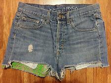 Erin Wasson X RVCA High Denim Jean Short Booty Shorts Womens sz 30 Made in USA