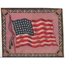 """Tobacco Flag United States 1900's flannel-felt 8.75""""x10.5"""" cigar/cigarette ᵇ F1"""