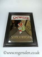 Dewar's Scotch Whisky  Vintage Pub Mirror C1960's