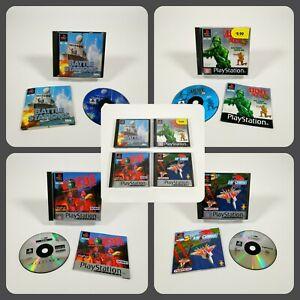 PlayStation 1 PS1 War / Battle Games   Army Men Air Combat Worms BattleStations