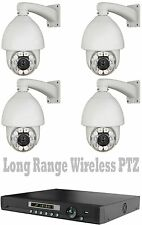 Long Range Wireless Ptz Transmit Up To 2500 Ft Security Cameras NightVision +Dvr