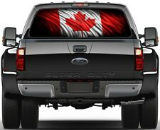 Canadian Flag Rear Window Graphic Decal Truck SUV