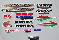 14 Pegatinas de gráficos del vientre PAN Moto calcomanías conjunto Castrol