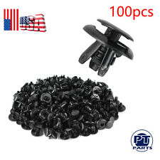 100pcs Fender Splash Shield Clips Push Pin Fastener Retainer For Mitsubishi