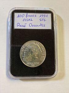 100 Francs 1991 ESSAI Rene Descartes Spl ++