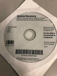 HP System Recovery Windows 7 media 664939-B26