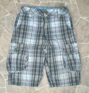 *s.Oliver* Jungen Cargo Bermuda Shorts Hose Gr. 140 kariert verstellbare Weite