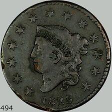 1825 1C N-7 Coronet Head Cent