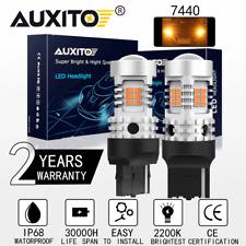 2X 7440 992 Amber/Yellow Turn Signal High Power LED Light Bulb CANBUS Error Free