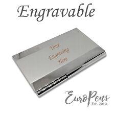 Stainless Steel Metal Business Card Holder Wallet - ADD ENGRAVING