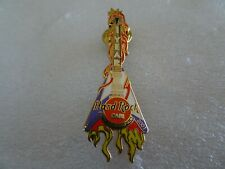 Hard Rock Cafe pin Collectors Club Member 2001 1 year anniversary flaming Guitar