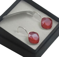 Silver Plated Earrings SHEENA *Royal Red* 12mm Crystals from Swarovski®