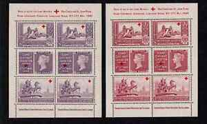 Great Britain - Cinderella 1940 Stamp Centenary Exhibition Labels Aid Sheets
