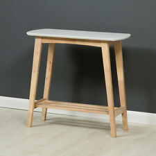 Eden Modern Hall Table / White Console Table / Solid Wood with Shelf / Brand New