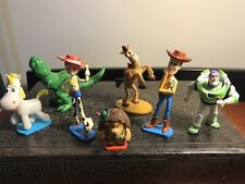"7 Pc Toy Story Figurines Woody Jessie Rex  Buzz 3"" Cake Toppers"