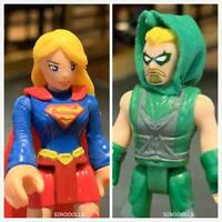 Lot 2 Fisher-Price Imaginext DC SUPER GIRL & Green Arrow Action Figures Toys