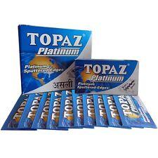 40 Blades x Topaz Platinum Safety Razor Double Edge Blades ( Sputtered Edges )