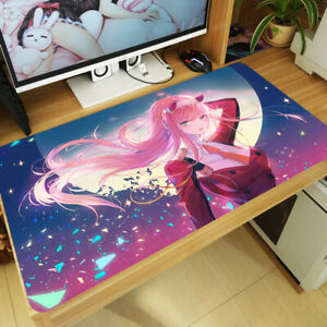 Darling in the FranXX Zero Two Anime Girl Mouse Pad Large Keyboard Mat Playmat