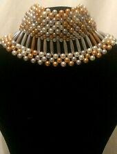 Multi Layer Choker Imitation Pearl Necklace Pearl Collar Pearl Choker B78