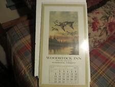 R. ATKINSON FOX- THOMAS D. MURPHY CALENDAR.-WOODSTOCK VERMONT DUCKS UNLIMITED