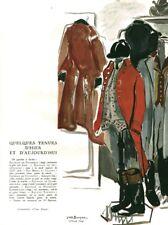 Publicité ancienne tenue de vénerie du 1er empire 1946 issue magazine Y. Brayer
