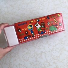 Vintage 1985 JAPANESE Vinyl MAGNETIC Plastic PENCIL Case JAPAN ~ 80s Stationery