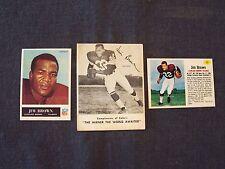 Jim Brown (NFL HOF) reprint cards - Kahn's Wieiners, Post Cereal & Philadelphia