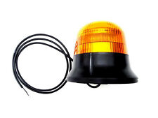 LED Warnleuchte Rund Ø145 Doppelter Blitz 9 LEDs 12V 24V 48V E9 ECE R65 EMV IP68