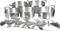 New Galaxy King Aluminium Casserole Stock Soup Pots with Lids 28,30,32,36,40cm