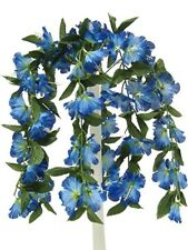 "26"" Hibiscus Blue Hanging Bush Silk Flowers Wedding Bouquets Centerpieces"