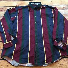 90s VTG NAUTICA COLORBLOCK Shirt HIP HOP Made USA Sport Wide Stripe XL Polo