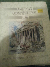 American Constitutional Law  by John M., II Scheb and Otis H Stephens HB 1993