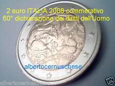 2 euro 2008 fdc ITALIA Diritti Uomo italie italien italy Италия 意大利 イタリア Włochy