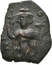Ancient Byzantine 641-668 Constans Ii Constantinople Ae Follis #15