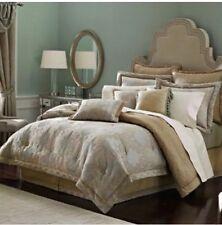 🌸New Croscill $465 Opal Capri Delano KING Comforter Set Beige Aqua Blue NWT NIP