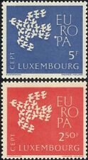 Luxembourg 1961 Europa/Doves/Birds/Nature/Peace/Animation/Design 2v set (ex1031)