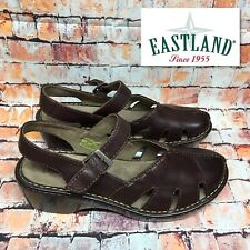 Eastland Woman's Size 11 W Brown Leather Mules Strap