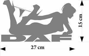 DAF truck Sexy Pose girl HGV Truck  sticker decals for glass - bodywork - decor