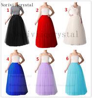 """5 Layer Retro Lady Long Petticoat Crinoline Underskirt Skirt Slips Tulle 39"""""""