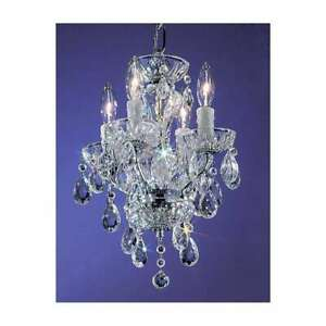 Classic Lighting Daniele Crystal Mini-Chandelier, Chrome - 8374CHI