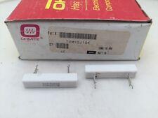 5 Pcs Tvm10j10k Ohmite 10 Watt 10k Ohm 5 Ceramic Housed Power Resistor