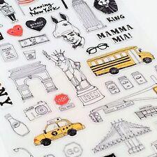 Suatelier NEW YORK Diario di viaggio USA KAWAII Adesivi Cancelleria Planner Scrapbook